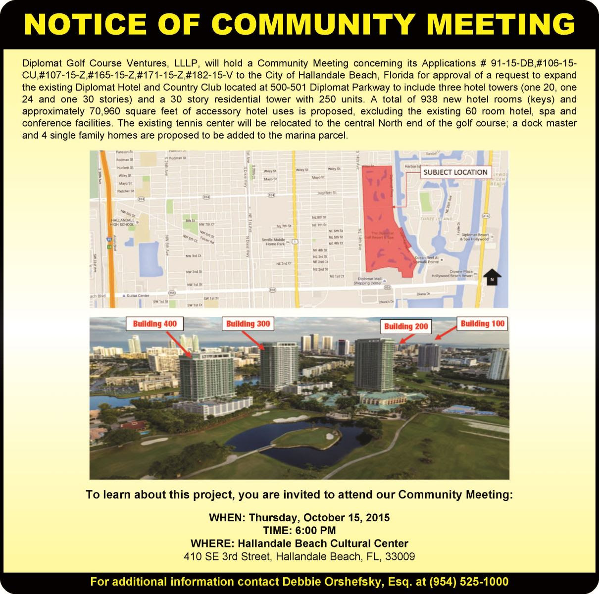notice of community meeting