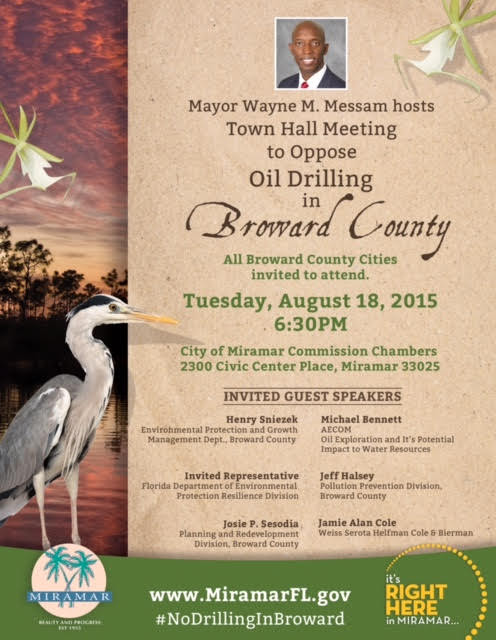 oil drilling town hall